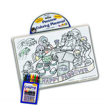 PASSOVER PLACEMAT W/8 CRAYONS TY-MAT/P