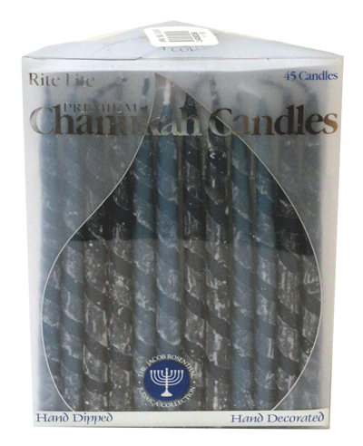 JANUKA CANDLES COLORED BLUE EX-LG 28003