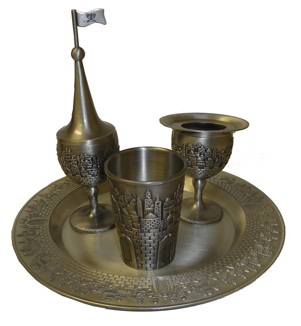 HAVDALA SET PEWTER SPICE/CANDLE 4214P
