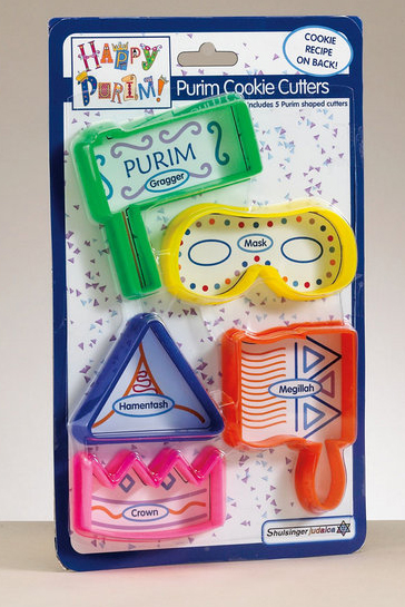 PLASTIC PURIM COOKIE CUTTERS KWP-13165