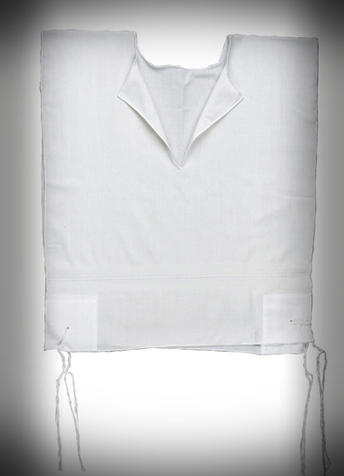 TZITZIT COTTON V NECK ADULT SEFARDI